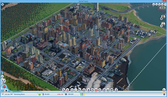 SimCity has a small city size