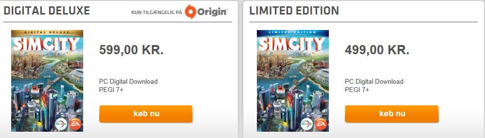 De forskellige udgaver af SimCity