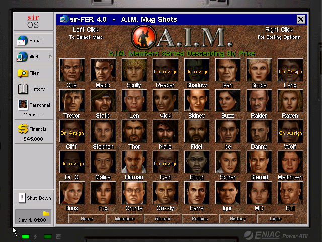 jagged alliance 2 aim roster