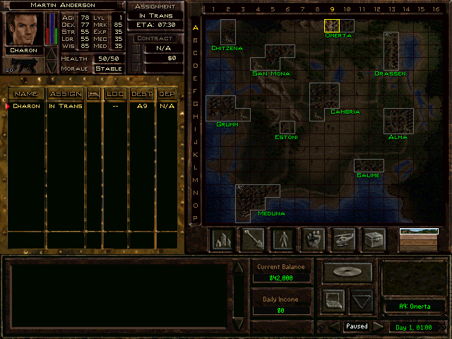 jagged alliance 2 map